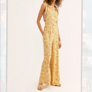 Free people yellow jumpsuit